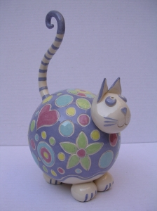 Sculpture Chat : Hauteur : 18 cm - (queue comprise) - Prix : 50 €