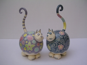Sculpture Chat : Hauteur : 18 cm (sans la queue ) - Prix : 50 €